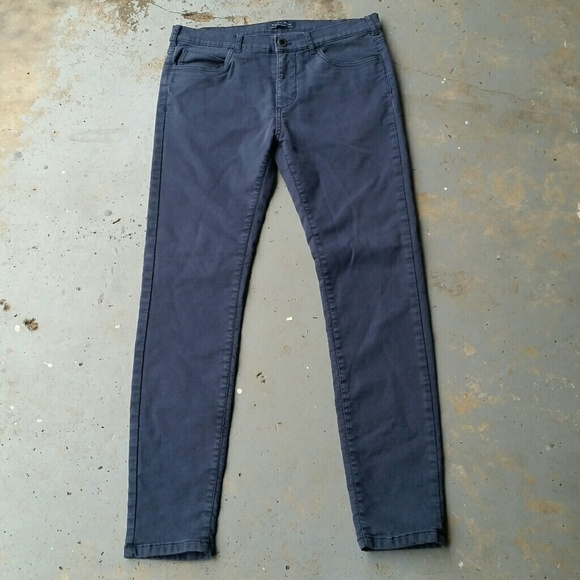 5291858c Zara Men Navy Blue Skinny Stretch Jeans